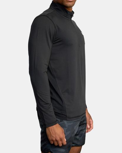 3 Sport Vent Zip - Haut de sport manches longues pour Homme Noir Z4KTMFRVF1 RVCA