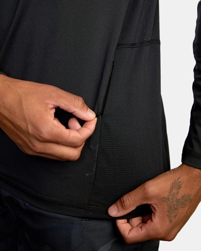 6 Sport Vent Zip - Haut de sport manches longues pour Homme Noir Z4KTMFRVF1 RVCA