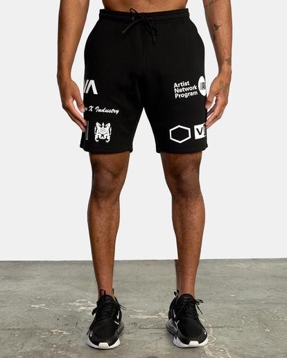 0 VA Sport IV - Short de survêtement pour Homme Noir Z4WKDBRVF1 RVCA