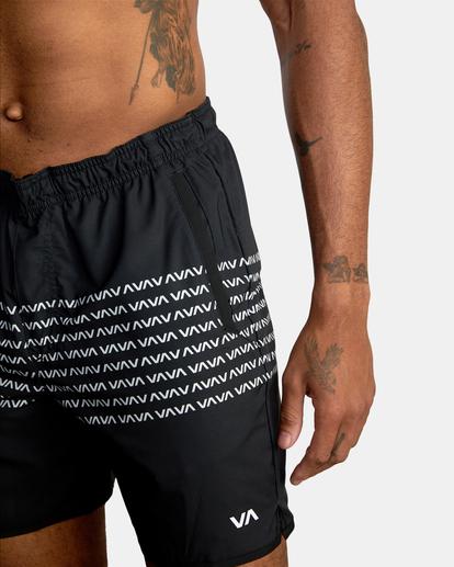 12 Yogger Stretch - Short de Entrenamiento para Hombre Negro Z4WKMGRVF1 RVCA