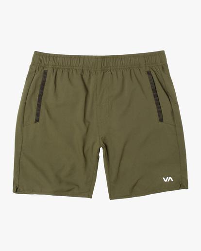 0 VA Sport Yogger IV - Short de Entrenamiento para Hombre Verde Z4WKMHRVF1 RVCA