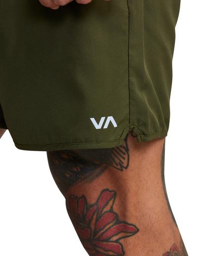 4 VA Sport Yogger IV - Short de Entrenamiento para Hombre Verde Z4WKMHRVF1 RVCA