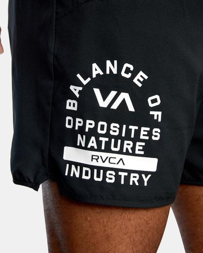 4 VA Sport Yogger IV - Short de Entrenamiento para Hombre Negro Z4WKMHRVF1 RVCA