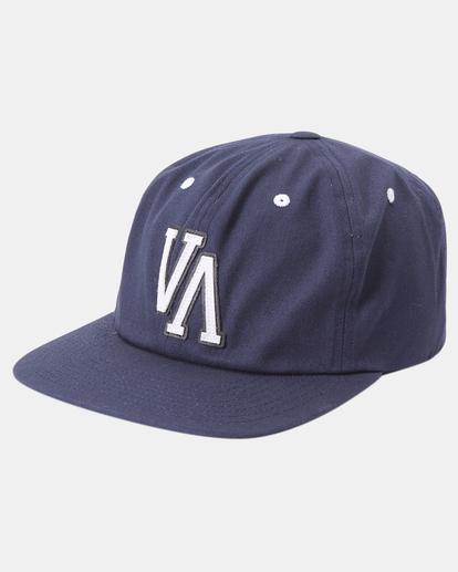 0 VA Univ - Strapback Cap for Men Blue Z5CPRRRVF1 RVCA