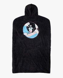 1 Luke P | Boys' Surf Poncho Changing Towel Black AVBAA00101 RVCA
