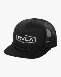 0 Boy's Staple Foamy Trucker Hat Black AVBHA00111 RVCA