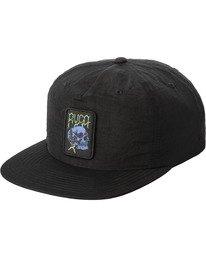 0 Boy's Lockdown Snapback Hat Black AVBHA00113 RVCA