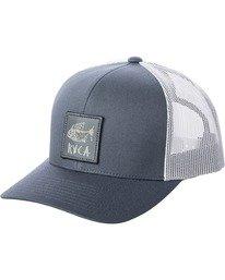 0 Ben Horton | Boys' Dead Fish Trucker II Hat Grey AVBHA00115 RVCA