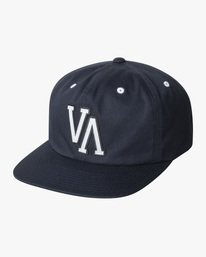 0 Boy's VA University Snapback Hat Blue AVBHA00117 RVCA