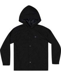0 Boy's VA Hooded Coaches Jacket Black AVBJK00101 RVCA