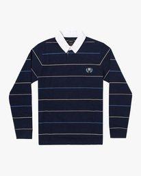 0 Boy's Balance Rugby Long Sleeve Polo Shirt. Blue AVBKT00136 RVCA
