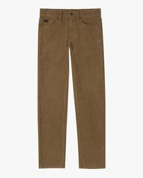 0 BOYS DAGGERS PIGMENT CORD SLIM FIT PANT Brown AVBNP00100 RVCA
