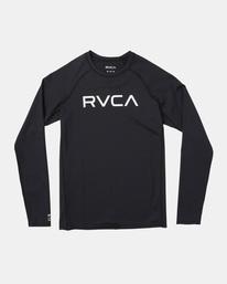 0 Boy's Long Sleeve Rashguard Black AVBWR00100 RVCA