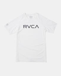 0 SS RVCA RASHGUARD White AVBWR00101 RVCA