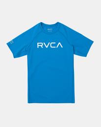 0 Boy's Short Sleeve Rashguard Blue AVBWR00101 RVCA