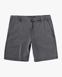 "0 Boy's All Time Coastal Rinsed Short 17"" Black AVBWS00102 RVCA"