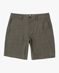 "0 Boy's Back In Hybrid Shorts 17"" Green AVBWS00103 RVCA"
