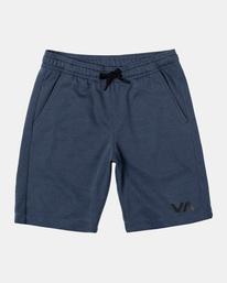 "0 VA Sport | Boy's Sport IV Elastic Shorts 17"" Blue AVBWS00107 RVCA"
