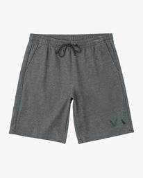 """0 VA Sport   Boy's Sport IV Elastic Shorts 17"""" Grey AVBWS00107 RVCA"""