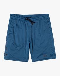 "0 Boy's VA Mesh Elastic Shorts 17"" Blue AVBWS00110 RVCA"