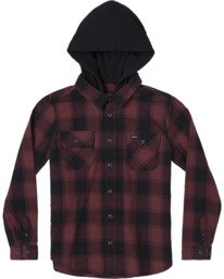 0 REPLACEMENT LONG SLEEVE FLANNEL Red AVBWT00105 RVCA