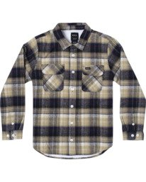 0 BOYS EMERSON LONG SLEEVE FLANNEL Blue AVBWT00106 RVCA