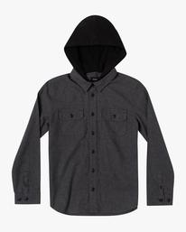 0 Boy's Husker Quilted Hooded Flannel Shirt  AVBWT00128 RVCA