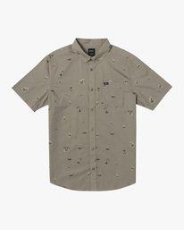 0 Boy's Tropicalia Short Sleeve Shirt  AVBWT00129 RVCA