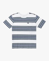 0 BOYS TAKE STRIPE TEE White AVBZT00105 RVCA