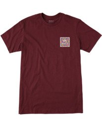 0 BOYS VA ATW SHORT SLEEVE TEE Red AVBZT00117 RVCA