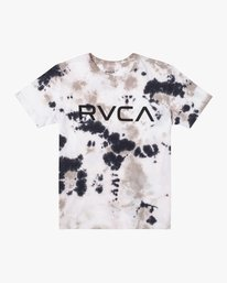 0 BOYS BIG RVCA TIE DYE SHORT SLEEVE TEE  AVBZT00123 RVCA