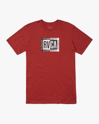 0 BOY'S BLOCK CHAIN SHORT SLEEVE TEE  AVBZT00141 RVCA