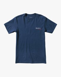 0 BOY'S RETURN SHORT SLEEVE TEE Blue AVBZT00142 RVCA
