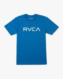 0 BOY'S BIG RVCA SHORT SLEEVE TEE Blue AVBZT00147 RVCA