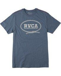 0 Boy's Buck O Short Sleeve Tee Grey AVBZT00172 RVCA