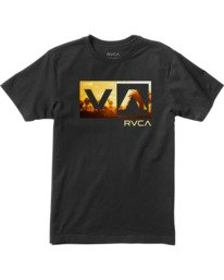 0 Boy's Balance Box Short Sleeve Tee  AVBZT00179 RVCA
