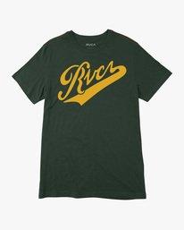 0 Boy's Pennant Short Sleeve Tee Green AVBZT00211 RVCA