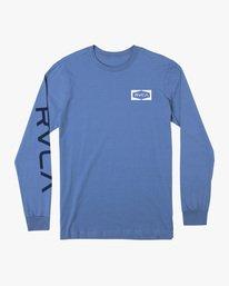 0 Boy's Bracket Long Sleeve Tee Blue AVBZT00220 RVCA