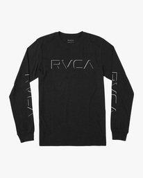 0 Boy's Drop Shadow Long Sleeve Tee Black AVBZT00226 RVCA