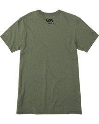 1 VA Sport| Boy's Two Bar Short Sleeve Tee Green AVBZT00243 RVCA