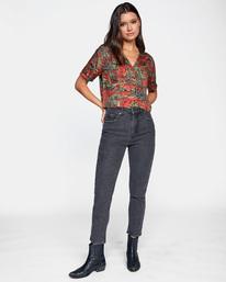 3 Stan High-Rise Denim Pants Beige AVJDP00102 RVCA