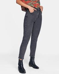 6 Stan High-Rise Denim Pants Beige AVJDP00102 RVCA