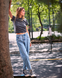 0 Daisy High-Rise Denim Pants Multicolor AVJDP00103 RVCA