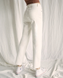 2 Camille Rowe | Pops Denim Pants White AVJDP00105 RVCA