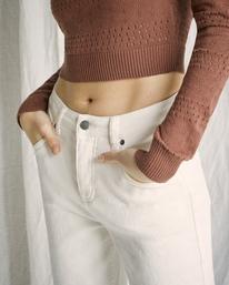 3 Camille Rowe | Pops Denim Pants White AVJDP00105 RVCA
