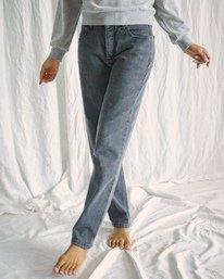 4 Camille Rowe | Pops Denim Pants Beige AVJDP00105 RVCA
