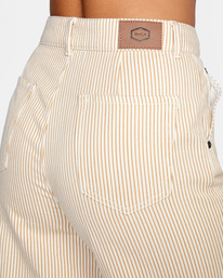 6 Fresh Prince Cropped Corduroy Pants Yellow AVJDP00107 RVCA
