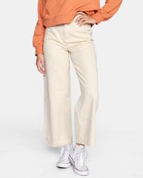 0 Fresh Prince Cropped Corduroy Pants Yellow AVJDP00107 RVCA