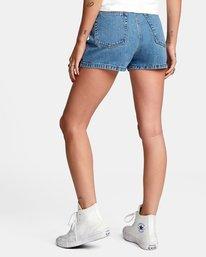 4 Azalea High Rise Denim Shorts Blue AVJDS00104 RVCA