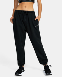 0 VA ESSENTIAL JOGGER SWEATPANTS Black AVJFB00104 RVCA
